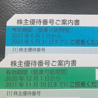 ANA 株主優待券 二枚セット(航空券)