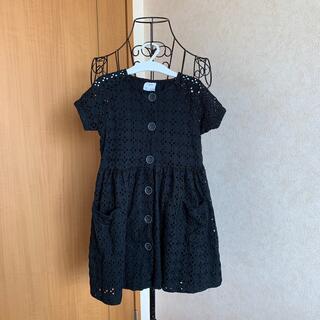 ZARA KIDS - ZARA KIDS  未使用 ブラックワンピース 半袖 サイズ110