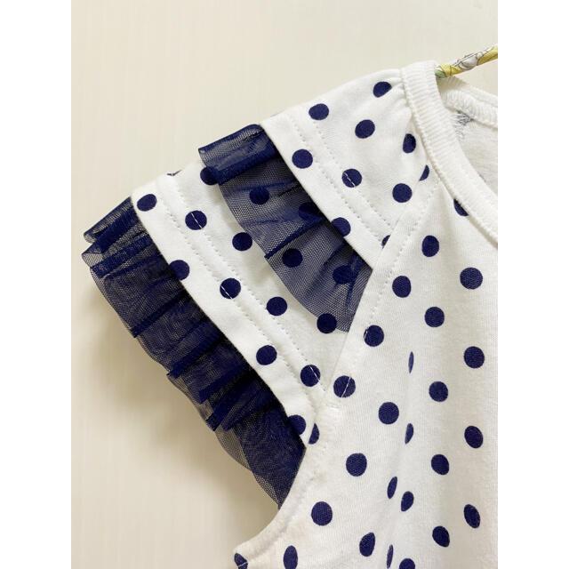familiar(ファミリア)のファミリア 新品未使用 Tシャツ ドット チュール 110 キッズ/ベビー/マタニティのキッズ服女の子用(90cm~)(Tシャツ/カットソー)の商品写真