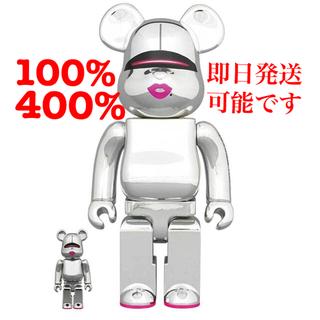 MEDICOM TOY - Be@rbrick Sorayama×2GSilverVer100% &400%