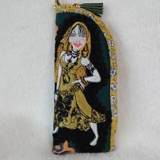 ジプシーレディー刺繍/メガネケース*ロラライハリス