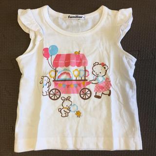 familiar - ファミリア ♡ familiar フリル Tシャツ