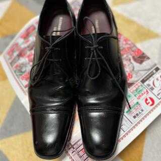 キャサリンハムネット(KATHARINE HAMNETT)のブラック紐革靴 ビジネスシューズ(ドレス/ビジネス)