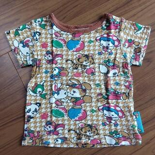 グラグラ(GrandGround)のグラグラ 90センチ 千鳥格子柄Tシャツ 半袖(Tシャツ/カットソー)