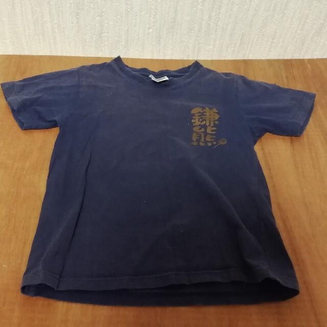 北海道日本ハムファイターズ 鎌熊Tシャツ 紺色 半袖 サイズ130 2003年製 スポーツ/アウトドアの野球(記念品/関連グッズ)の商品写真