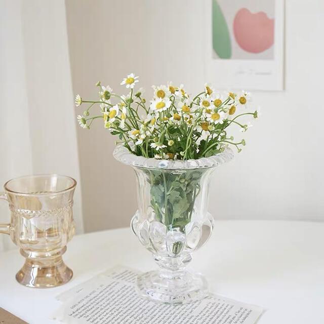 新品 花瓶 おしゃれ 置物 ガラス 花びん インテリア雑貨 フラワーベース インテリア/住まい/日用品のインテリア小物(花瓶)の商品写真