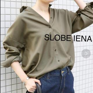 IENA SLOBE - スローブイエナ カーキ オーバーサイズ シャツ