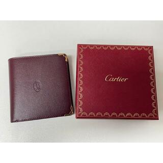 カルティエ(Cartier)の【特価】新品 カルティエ 二つ折り財布 L3000165 MUST LINE(財布)