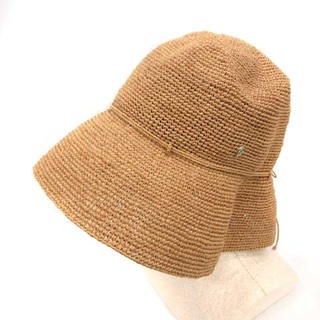 HELEN KAMINSKI - ヘレンカミンスキー プロバンス 帽子 ラフィアハット 麦わら帽子 リボン 茶