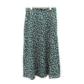 エニィスィス(anySiS)のエニィスィス エニシス anySiS スカート フレア ロング 4 L 緑  白(ロングスカート)