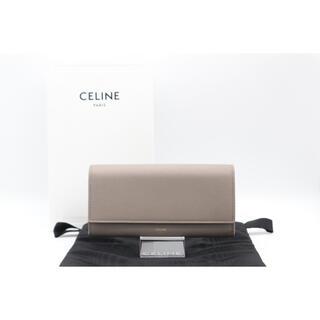 セリーヌ(celine)のCELINE ラージウォレット グレインドカーフスキン ABランク 美品 グレー(財布)