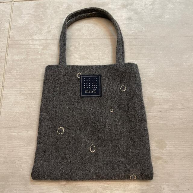 mina perhonen(ミナペルホネン)のmina perhonenミニバック 雪の日✨レア レディースのバッグ(ハンドバッグ)の商品写真