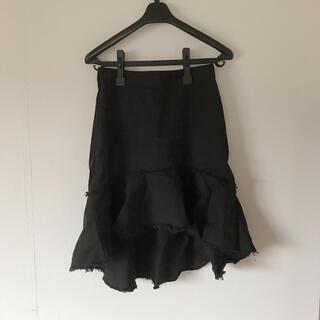 ゴゴシング(GOGOSING)のアシメスカート 裾フリンジ 韓国(ミニスカート)