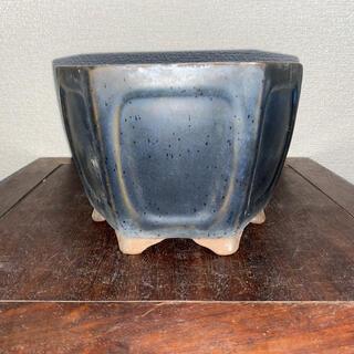 盆栽鉢 六角 瑠璃 深鉢 鉢 植木鉢(その他)