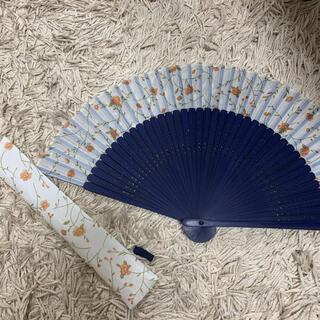 フランフラン(Francfranc)の織部  扇子 センス 花柄(日用品/生活雑貨)
