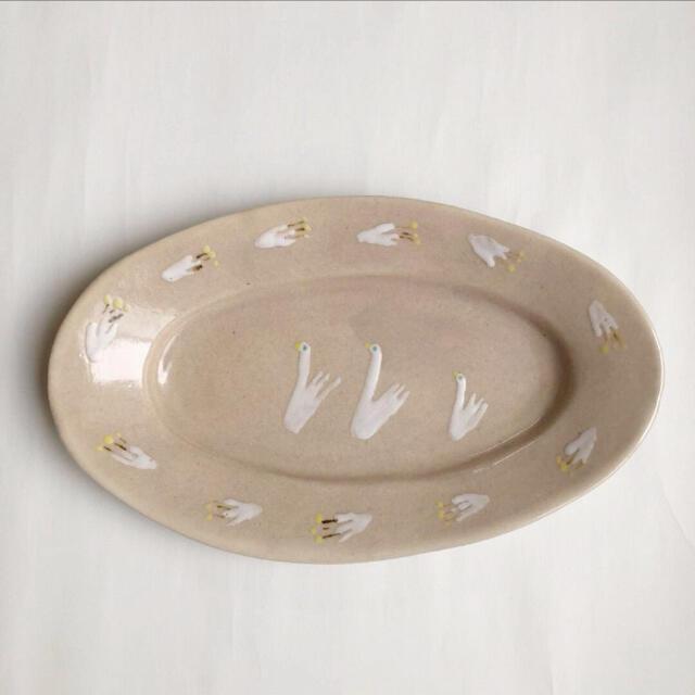 石木文 オーバルプレート 大皿 インテリア/住まい/日用品のキッチン/食器(食器)の商品写真