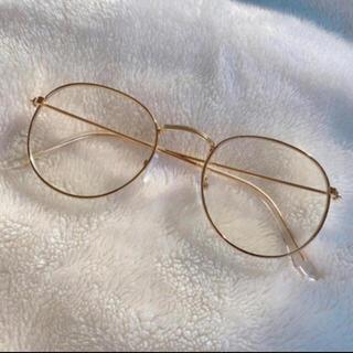 Noble - ボストン型 金縁メガネ ゴールド×クリアクリップ 丸み逆三角形