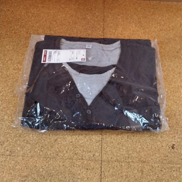 UNIQLO(ユニクロ)のさるおやじ様専用🐒ユニクロカットオフレイヤードヘンリーネックTシャツ👕半袖 メンズのトップス(Tシャツ/カットソー(半袖/袖なし))の商品写真