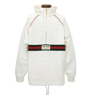 グッチ(Gucci)のグッチ  パーカー  ウェブ&GUCCI ラベル付き スウェットシャツ(パーカー)
