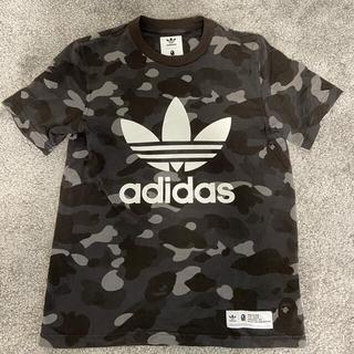 アベイシングエイプ(A BATHING APE)のbape adidas コラボ Tシャツ Sサイズ(Tシャツ/カットソー(半袖/袖なし))