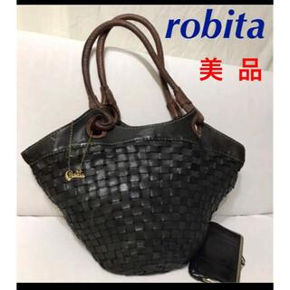 ロビタ(robita)のロビタ 革バッグ大きめ 美品 (トートバッグ)