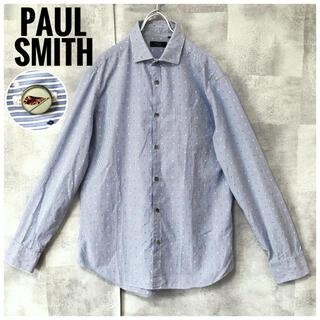 ポールスミス(Paul Smith)の美品⭐️Paul Smith ストライプ 総柄 ユニオンジャックボタン L(シャツ)