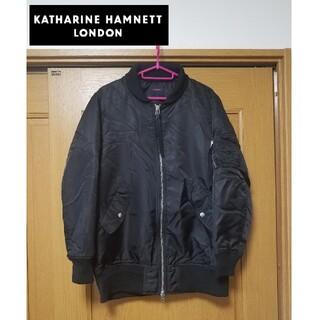 キャサリンハムネット(KATHARINE HAMNETT)の【新品】HAMNETT ハムネット ブルゾン MA1 ダウンジャケット コート(ブルゾン)