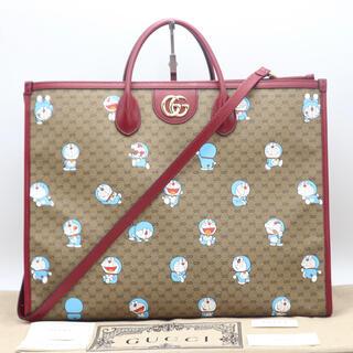 グッチ(Gucci)のGUCCI ミニGGスプリーム ドラえもんコラボ 2Wayバッグ S 未使用品(ハンドバッグ)