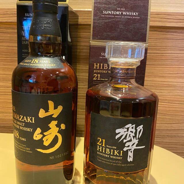 サントリー(サントリー)の山崎18年響21年 食品/飲料/酒の酒(ウイスキー)の商品写真