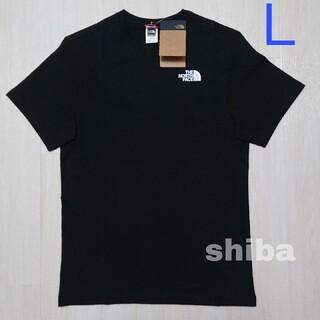THE NORTH FACE - ノースフェイス tシャツ 黒 simple dome t-shirt  海外L