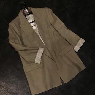 ザラ(ZARA)の今季新作 テーラードジャケット 新品タグ付 ZARA ロング丈(テーラードジャケット)