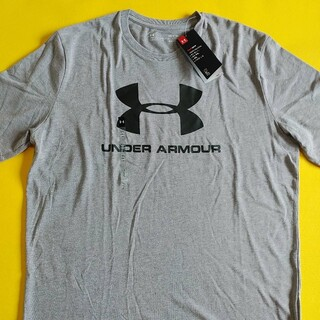 UNDER ARMOUR - アンダーアーマー Tシャツ、ロゴTシャツ、ビッグロゴT、ヒートギア、Lサイズ