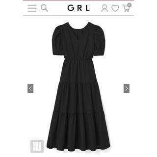 GRL - GRL ティアードワンピース ブラック