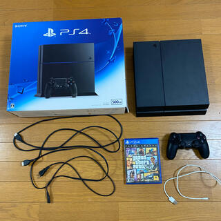 PlayStation4 - ps4 本体 ブラック 500GB  グラセフ5付き すぐに遊べるセット