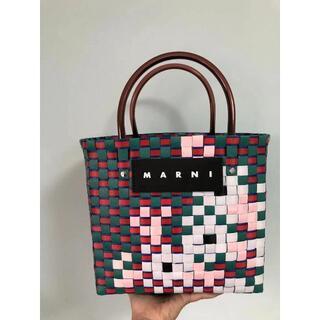 Marni - 新品 マルニ MARNI フラワーカフェ ピクニックカゴバッグ