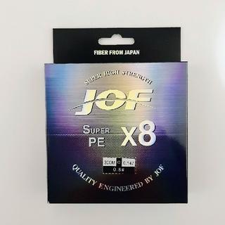 新品 PE ライン 0.8号 8本編み 300m マルチカラー 8編み(釣り糸/ライン)