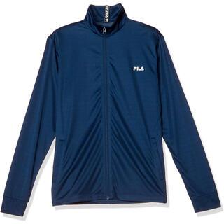フィラ(FILA)のフィラ FILA ラッシュガード フルジップUVパーカジャケット紺 メンズM新品(水着)