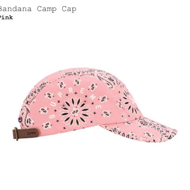 Supreme(シュプリーム)のSupreme Bandana Camp Cap Pink バンダナ キャップ メンズの帽子(キャップ)の商品写真