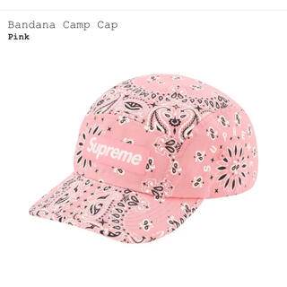 Supreme - Supreme Bandana Camp Cap Pink バンダナ キャップ