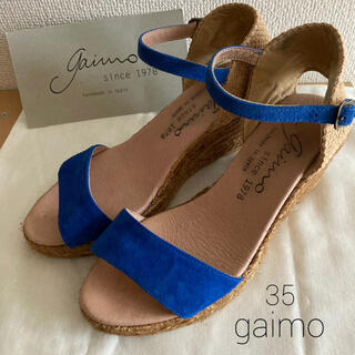 ガイモ(gaimo)のgaimo ガイモ |アンクルベルトスエード ウエッジソールサンダル35(サンダル)