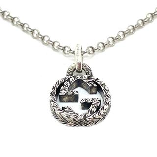 グッチ(Gucci)の美品 グッチ 455535 インターロッキングG アラベスク ネックレス(ネックレス)