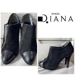 ダイアナ(DIANA)のダイアナ ブラックスエード ブーツ(ブーツ)