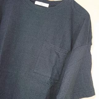 サマンサモスモス(SM2)のSM2  blue 胸ポケットTシャツ ブラック サマンサモスモス(Tシャツ(半袖/袖なし))