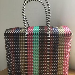 ★さりお様 専用★ メキシコ 蓋付きメルカドバッグ ピクニックバッグ(かごバッグ/ストローバッグ)