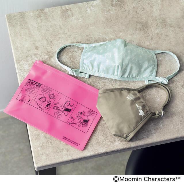 【新品】ムーミンマスク2種 ポーチ mini 7月号 付録  レディースのファッション小物(ポーチ)の商品写真