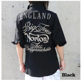 ノートン(Norton)のSALE!! 9889円→7990円新品NORTONノートンボタニカル5分シャツ(シャツ)