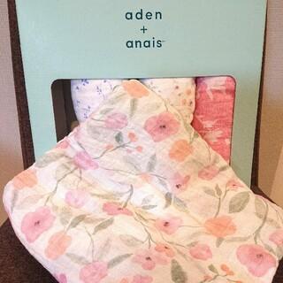 エイデンアンドアネイ(aden+anais)のエイデンアンドアネイ おくるみ 花柄A(おくるみ/ブランケット)