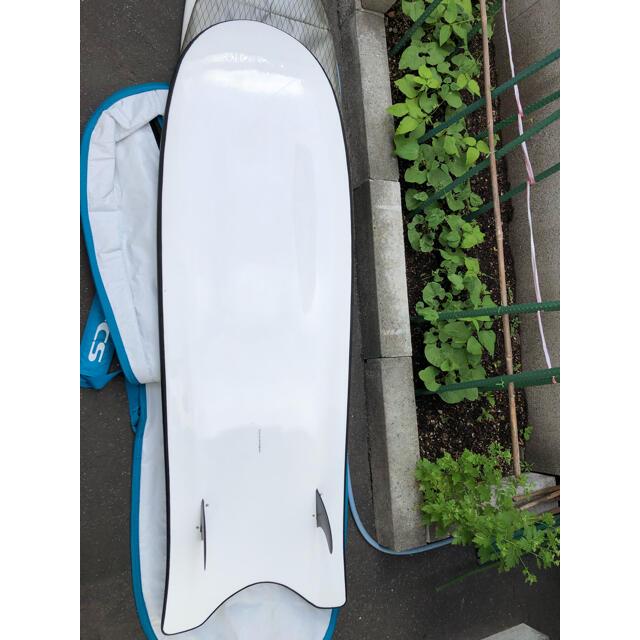 スリーウェザーソフトボード「BLACK」と FCSハードケース スポーツ/アウトドアのスポーツ/アウトドア その他(サーフィン)の商品写真