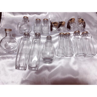 ハーバリウム瓶 空瓶 15本セット サイズ色々(その他)