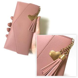 ◯16 長財布 ピンク レディース 2Way仕様 カードケース 薄型長財布